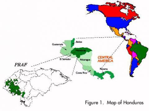Honduras - Map Locator Geography Social Studies Visual Arts World History