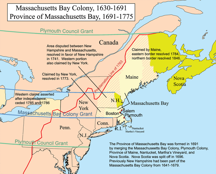 Map Massachusetts Bay Colony - Map massachusetts
