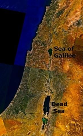 Satellite View of the Dead Sea Social Studies Visual Arts STEM Ethics