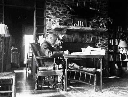 Photograph of U.S. President FDR at his retreat in Warm Springs, Georgia taken by Margaret L. (�Daisy�) Suckley