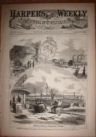 Loading Cotton - by Harper's Weekly  American History African American History Slaves and Slave Owners Social Studies Visual Arts Tragedies and Triumphs