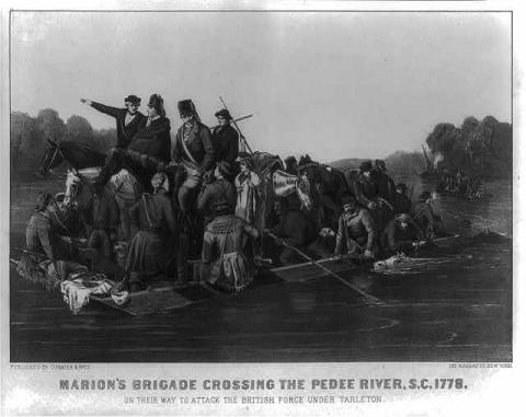 Marion's Brigade-Crossing the Pedee River