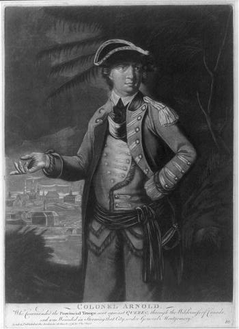 Benedict Arnold, 1776-Colonel in Continental Army