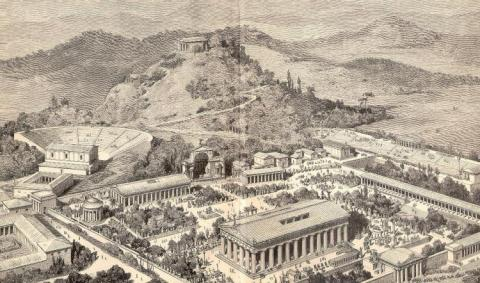 OLYMPIA: HOST OF THE GAMES (Illustration) Famous Historical Events Social Studies Sports Ancient Places and/or Civilizations Geography