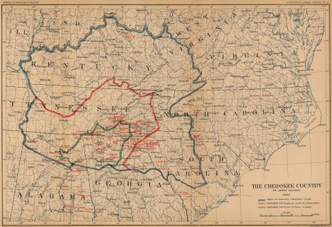 Map: The Cherokee Country Geography American History Social Studies