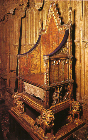 Special Throne in England known as the Coronation Chair & Coronation Chair and the Stone of Scone