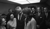 Jackie Kennedy at President Johnson's 1963 Swearing-In