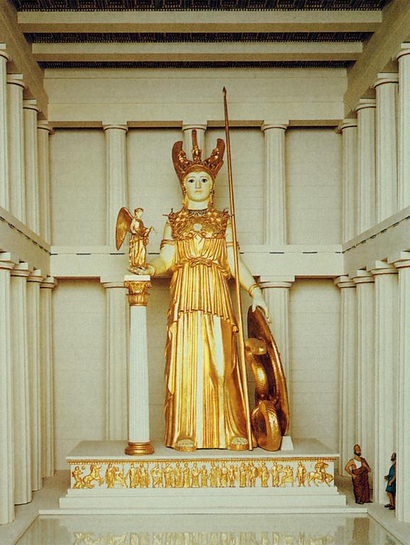 Athena Goddess Statue In The Parthenon Images & Pictures - Becuo Percy And Annabeth Fall Into Tartarus