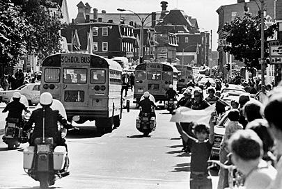 boston forced busing Credit: boston globe friday marks the 40th anniversary of the implementation of a court ordered desegregation of the city's schools the so-called busing crisis was an ugly tumult that typified a.