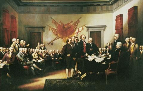 Committee Submitting the Declaration to Congress American History Famous Historical Events Famous People Visual Arts American Revolution