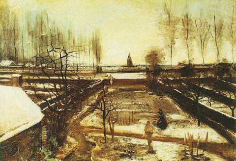 Parsonage Garden at Nuenen in the Snow Social Studies Tragedies and Triumphs Visual Arts Nineteenth Century Life