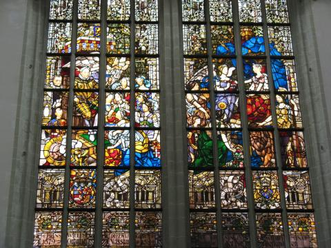 Amsterdam - Stained Glass at the Nieuwe Kerk Geography Medieval Times Philosophy Visual Arts