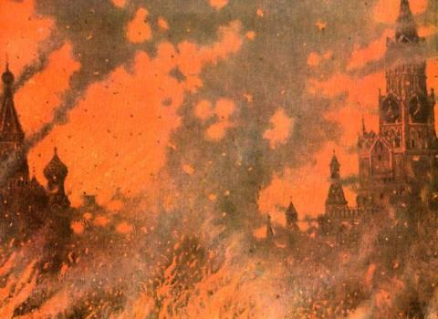 Firestorm in Moscow: September 14, 1812 (Illustration) Famous Historical Events Geography Nineteenth Century Life Social Studies World History Russian Studies Visual Arts