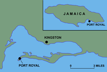 Map Depicting Port Royal Jamaica