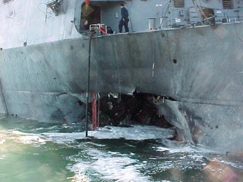USS Cole - 40x40 Foot Hole American History Disasters Famous Historical Events Tragedies and Triumphs