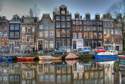 Amsterdam - Prinsengracht Canal Geography Medieval Times Philosophy Visual Arts Disasters