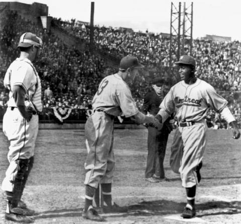 Jackie Robinson - In Action with the Montreal Royals Tragedies and Triumphs American History Famous People Social Studies Sports