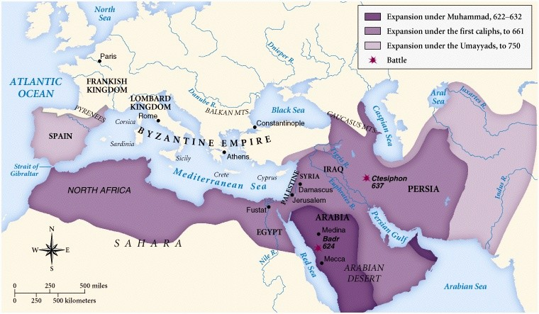 the rapid expansion of islam in the 7th century What facilitated the rapid spread of islam in the seventh and eighth centuries the exhaustion of the byzantine empire after pyrrhic victories over the - 4005945.
