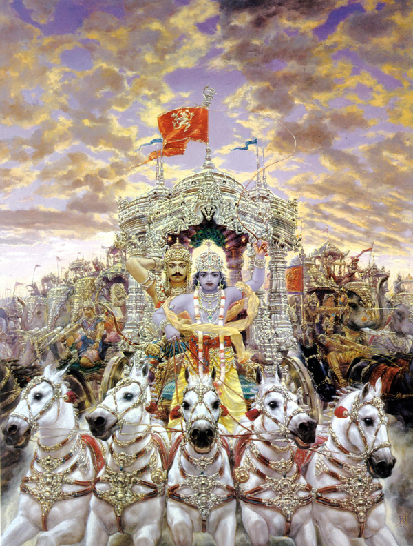 the battle in the bhagavad gita Dharma is the first word in the bhagavad-gita arjuna previously argued that if he and krishna were to fight the battle of kurukshetra.