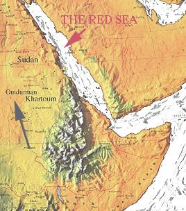 Map Showing Omdurman and Red Sea Geography Social Studies World History