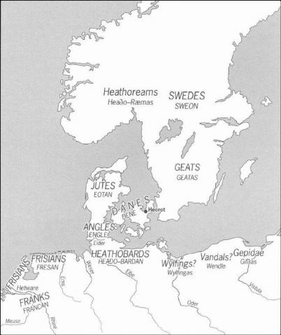 Map Depicting Presumed Location of Geats Ancient Places and/or Civilizations Geography Legends and Legendary People