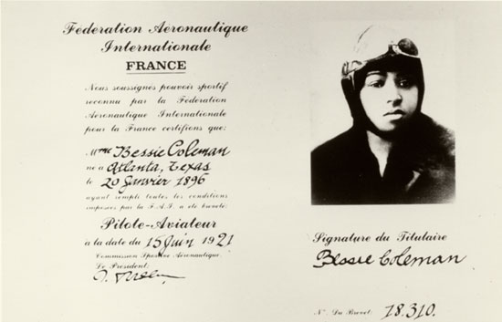 a biography of elizabeth bessie coleman an african american pilot Genealogy for elizabeth 'bessie' coleman bessie coleman, 1st american she was the first female pilot of african american descent and the first person.