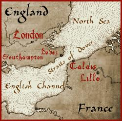 Map - Depicts England and France Proximity