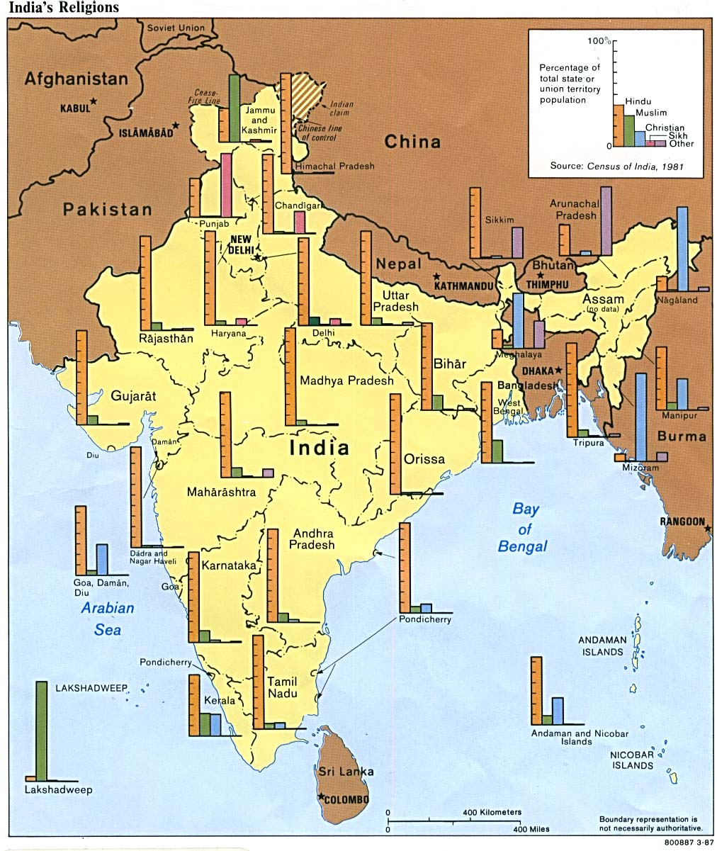 Religion in India - Breakdown by State - Awesome Stories
