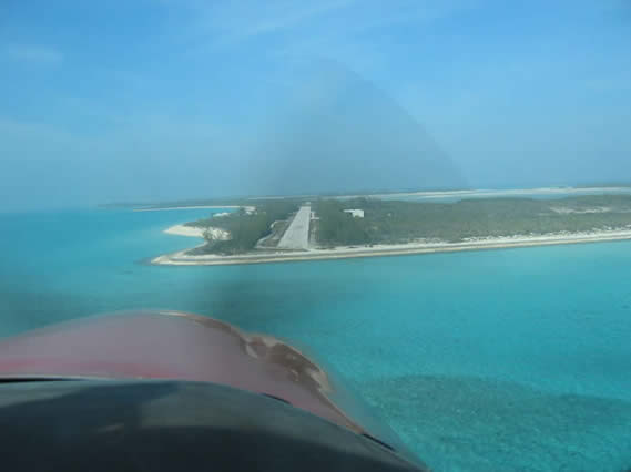 Landing at the Norman Cay's Runway