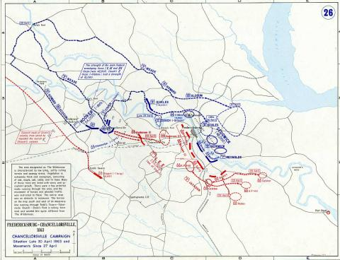 Map of Chancellorsville Campaign American History Civil Wars Famous Historical Events Tragedies and Triumphs Geography