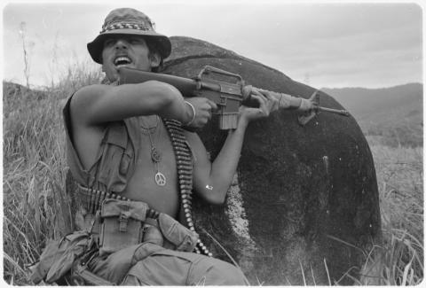 Fighting in Vietnam with a Peace Symbol in Place American History Cold War History Social Studies World History