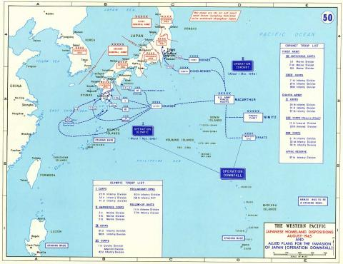 Japanese Home Islands Invasion Map - Operation Downfall American History Famous Historical Events Tragedies and Triumphs World War II World History