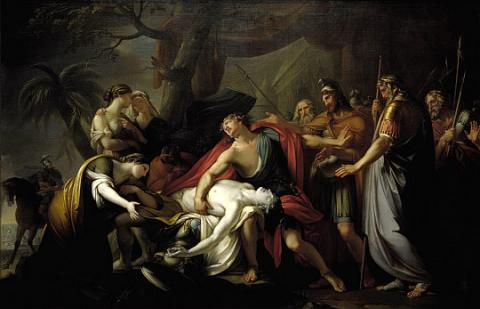 Patroclus - Death Reaction by Achilles Legends and Legendary People Social Studies Visual Arts Ancient Places and/or Civilizations