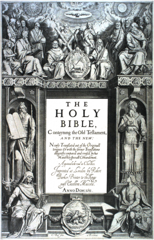 The Bible - First Edition of the King James Version Visual Arts Famous Historical Events Famous People Philosophy Social Studies