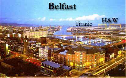 Photograph of the city of Belfast located in Northern Ireland