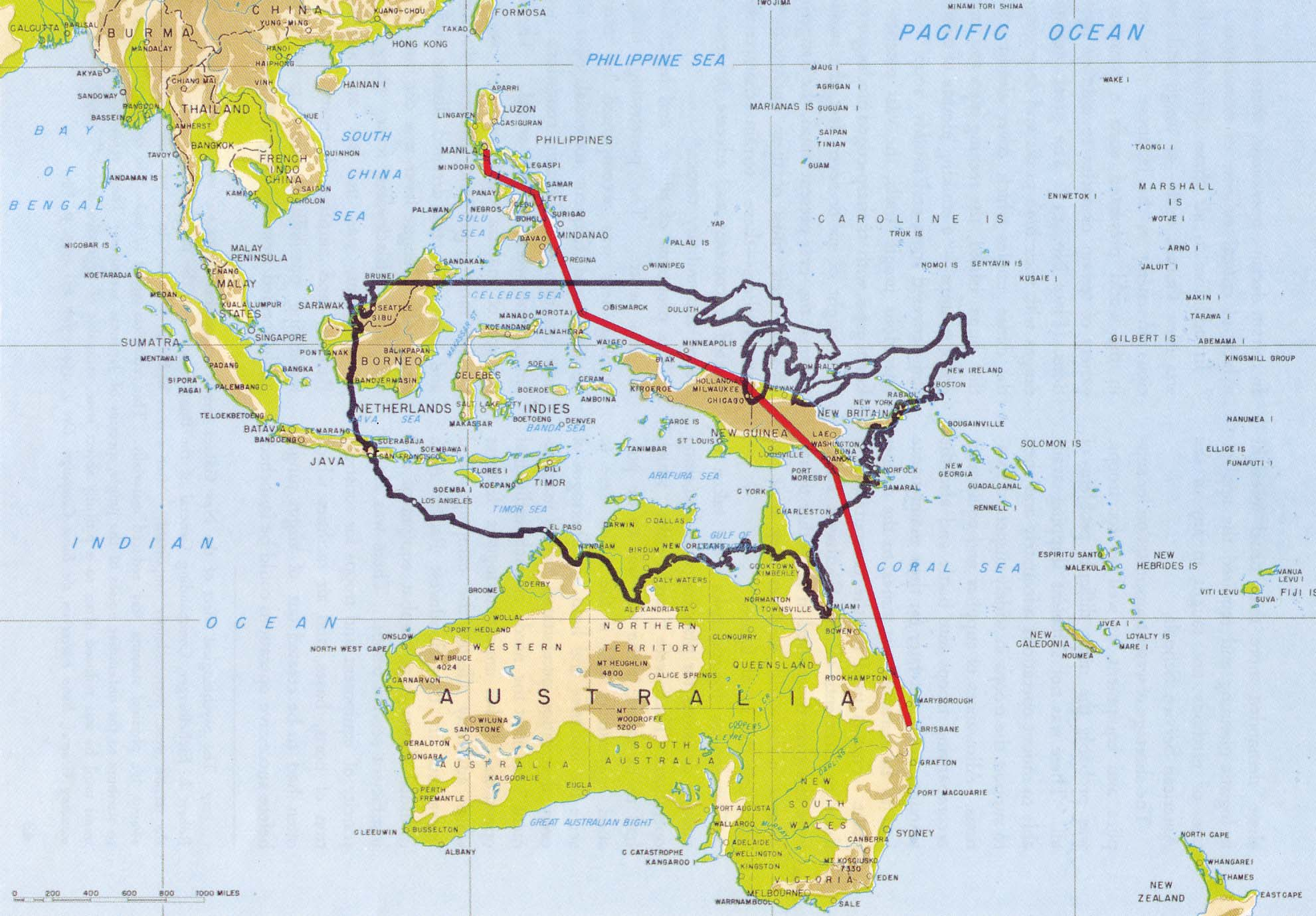 Battle Of Cape Gloucester Purpose Of The Fighting - Us map ww2