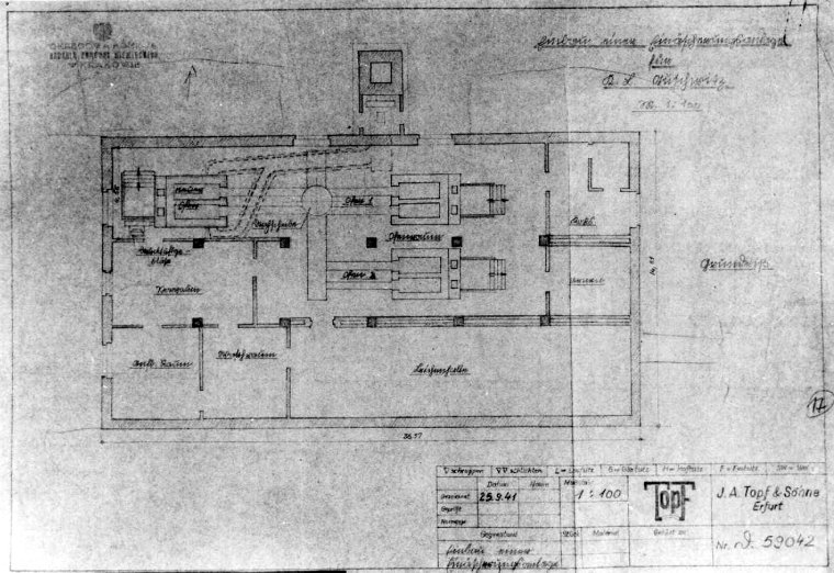 This Blueprint Which Survived The War Is For Crematorium