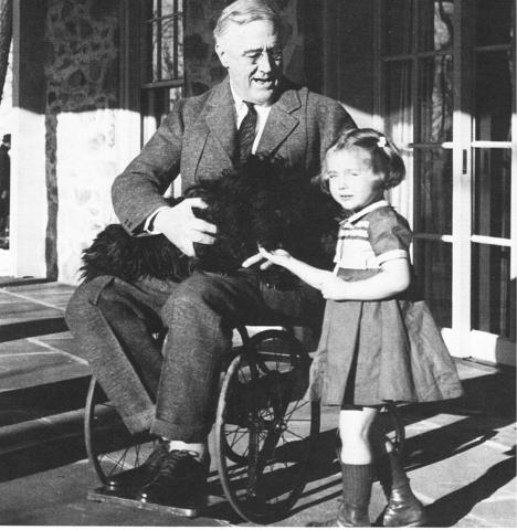 Photograph of U.S. President, Franklin Delano Roosevelt who was a victim of polio