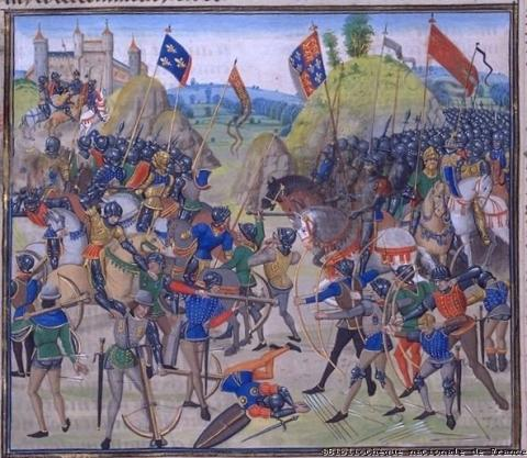 Hundred Years War - Battle at Crecy Medieval Times Social Studies World History Visual Arts
