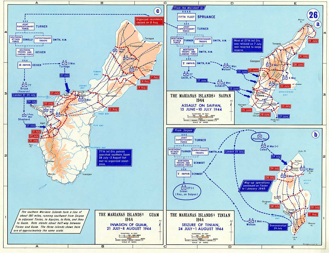 Marianas Islands - Map on
