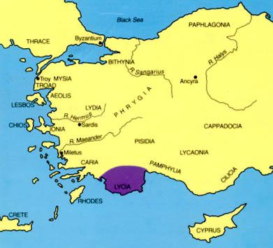 Lycia - Map Locator Ancient Places and/or Civilizations History Social Studies Philosophy