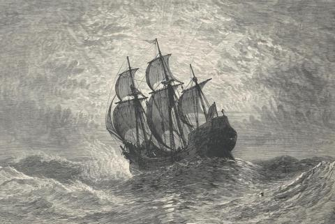 Mayflower - Drawing of Pilgrim Ship American History Famous Historical Events Famous People Social Studies Tragedies and Triumphs