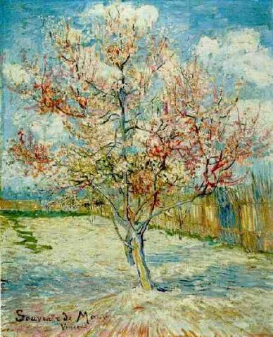 Pink Peach Tree in Blossom Visual Arts Nineteenth Century Life Tragedies and Triumphs