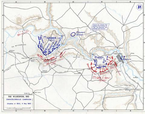 Map of Chancellorsville Campaign - 6 American History Civil Wars Famous Historical Events Famous People Tragedies and Triumphs Geography