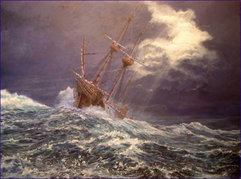 STORMS AT SEA (Illustration) Biographies Famous Historical Events Geography History Social Studies Tragedies and Triumphs Visual Arts American History