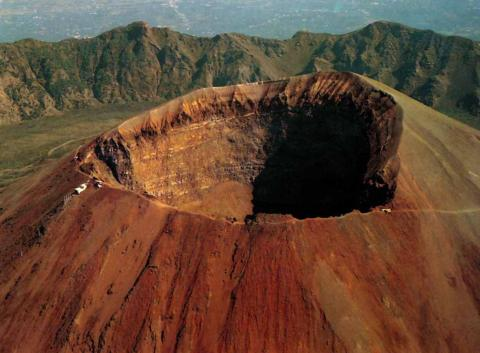 Top of Mount Vesuvius Geography Famous Historical Events STEM Visual Arts World History Disasters
