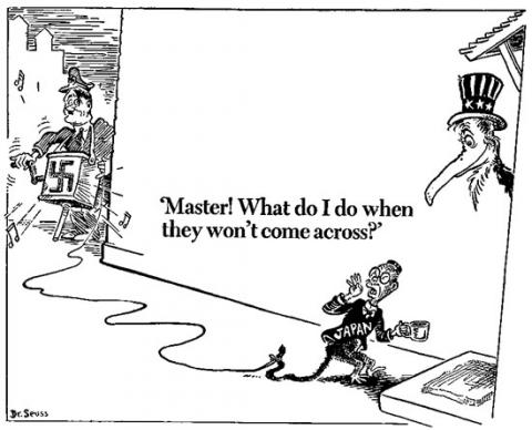 Prophetic Cartoon - by Dr. Seuss American History Government Social Studies World War II Visual Arts