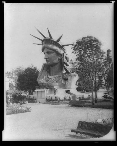 Statue of Liberty - Head Displayed in Paris Park Tragedies and Triumphs Famous Historical Events Social Studies Visual Arts World History