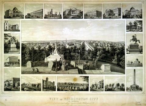 Washington City in the 1840s American History Geography Government Nineteenth Century Life