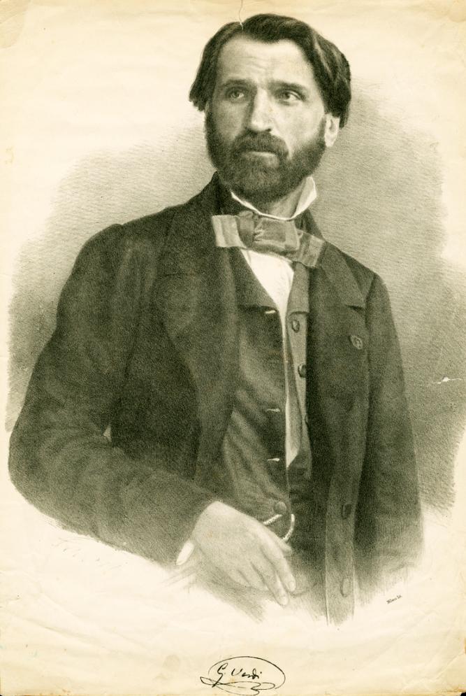 An illustration of a young Giuseppe Verdi